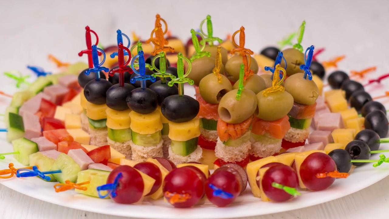 5 видов #Канапе на праздничный стол. Мини бутерброды на ...
