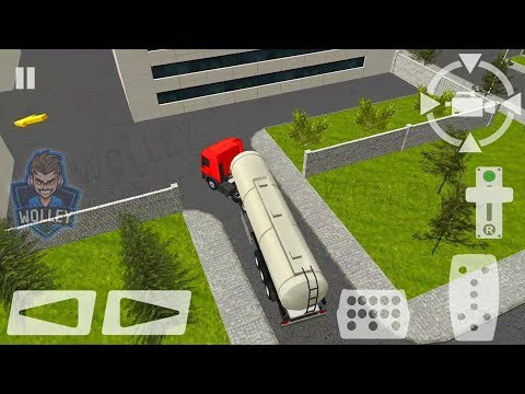 Semi Driver Trailer Parking 3D - Android Gameplay FHD - Transportation Trucks Riding Games For Kids