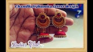 Chandbali Jhumka making I Latest earring designs I Silk thread jewelry I Ladies Club