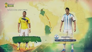 Video FIFA World Cup Brazil 2014 - Juego Completo Menús, Modos de Juego Equipos Uniformes y mas! download MP3, 3GP, MP4, WEBM, AVI, FLV Juli 2017