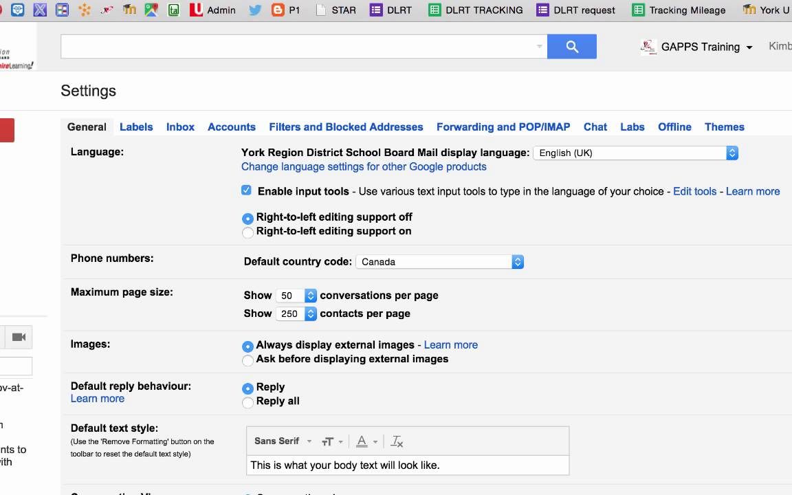 Forwarding your GAPPS gmail to your YRDSB email