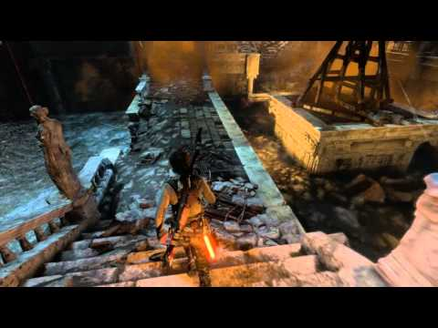 Rise of The Tomb Raider - Rising Tides: Crane (Swing Fire Vessel) Puzzle, 2nd Support Destroyed XBO
