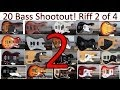 20 Bass Shootout - Part 2 - Neck Pick Style