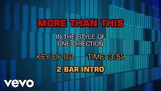 One Direction - More Than This (Karaoke Smash Hits Vol. 1)