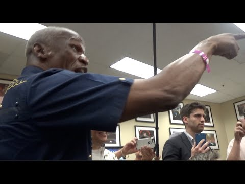 Thumbnail: CONFRONTATION! FLOYD MAYWEATHER SR & CONOR McGREGOR HEATED WAR OF WORDS DURING PRESS CONFERENCE