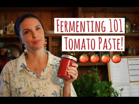 HOW TO FERMENT TOMATO PASTE - FERMENTING 101
