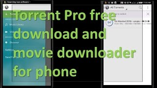 Torrent Pro Free Software and Movie Downloader for Phone