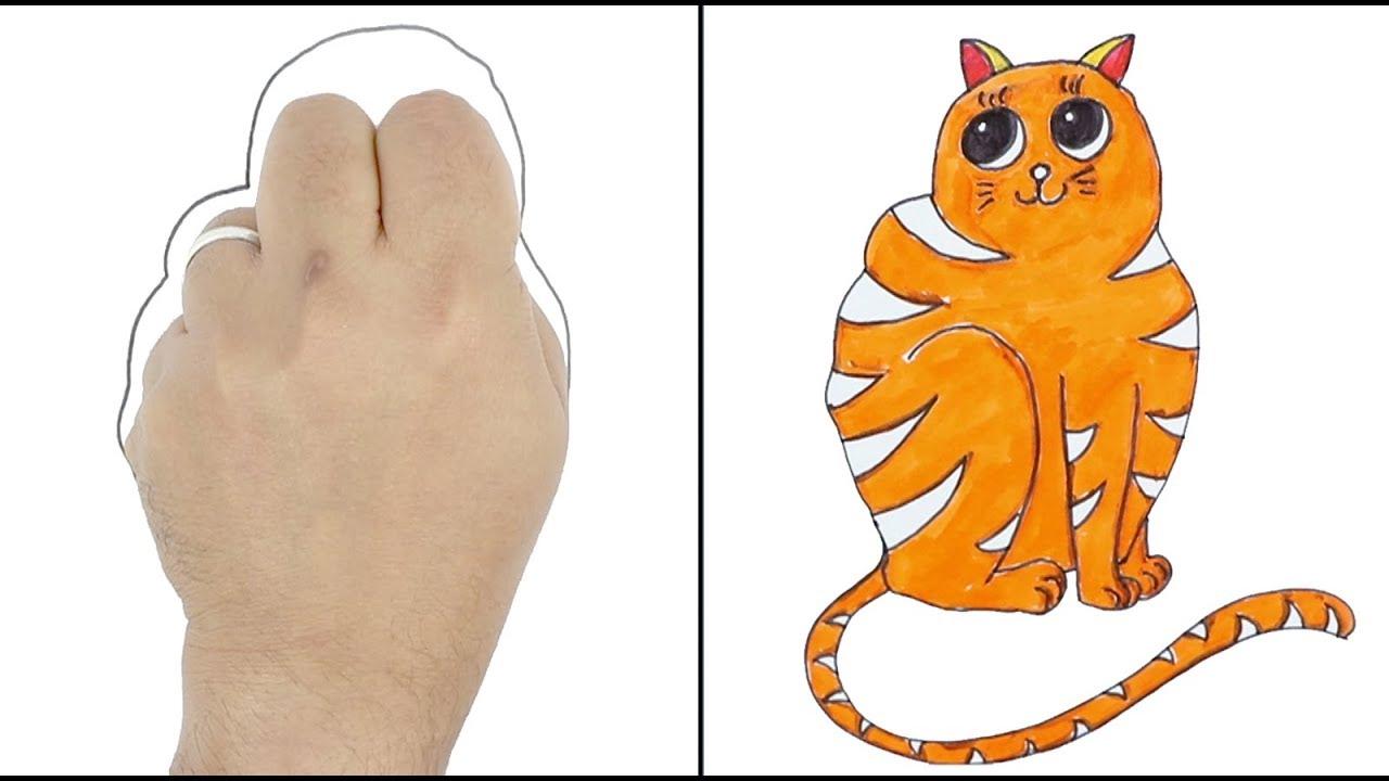 Easy Drawing Tricks Palm Art Hacks Drawing Ideas For Kids