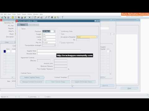 Standard Purchase Order Creation - Oracle Purchasing
