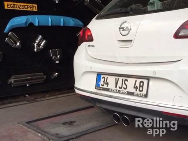 Opel Astra J 1.3 Cdti Kumandalı Varex Dizel Egzoz Sesi