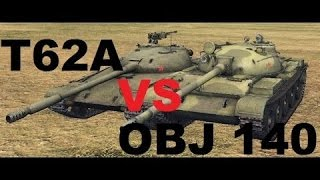 World of Tanks Blitz- T62a Vs Obj 140
