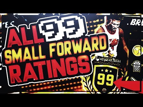 NBA 2K18 ALL 99 OVERALL SMALL FORWARD RATINGS, BUILDS, BADGES - BEST 99 RATINGS FOR ALL ARCHETYPES