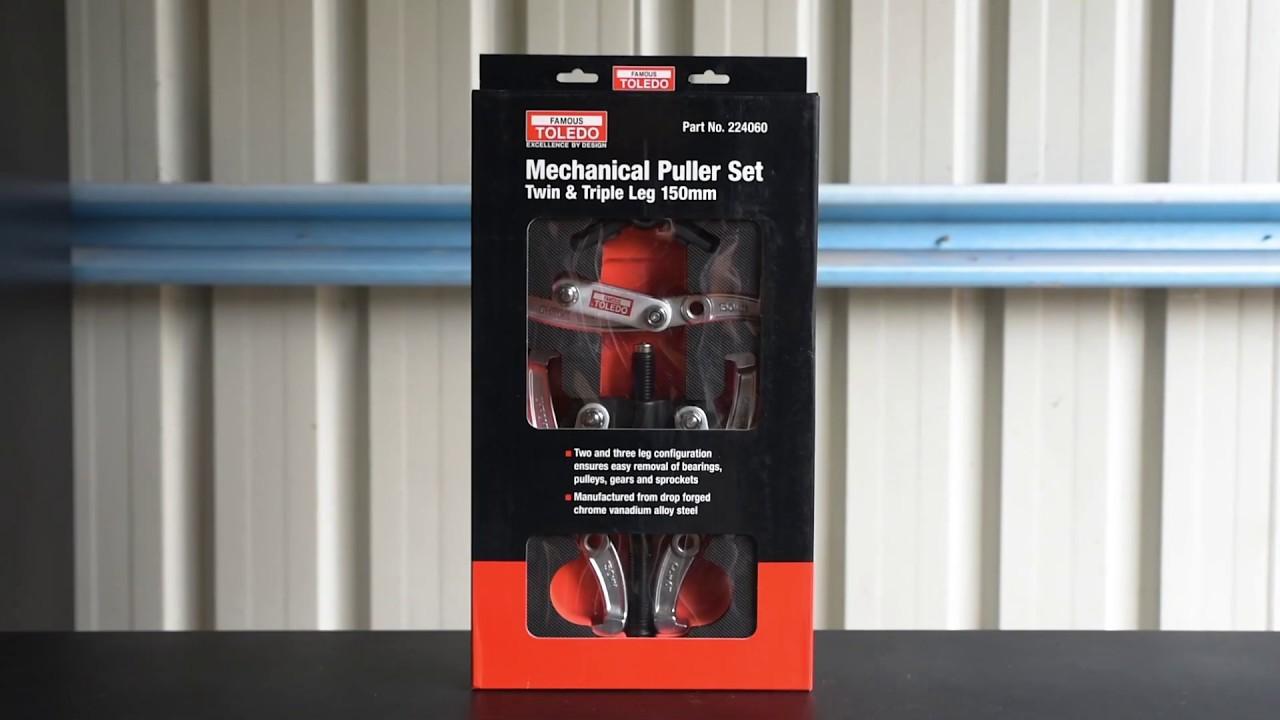 TOLEDO Twin /& Triple Leg Mechanical Puller Set 75mm 224030