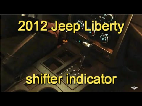 2012 Jeep Liberty Shifter Indicator