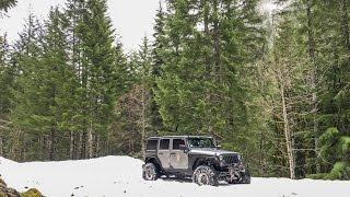 Spring Snow Wheeling Jeep Wrangler