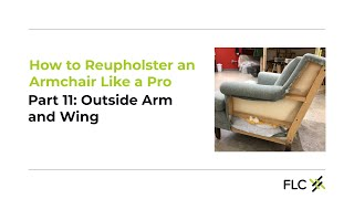 Outside arm and wing - Reupholster  Aunt Bea: DIY upholstery with a pro, part 11