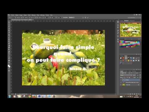 Comment Inserer Du Texte Dans Une Image Sous Photoshop