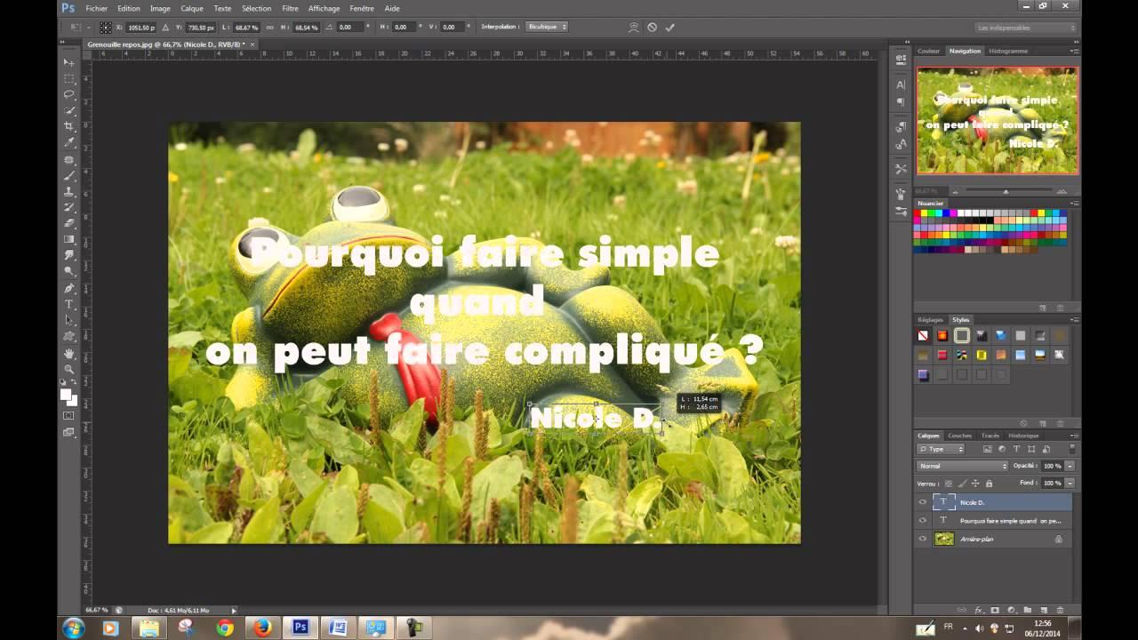 Comment Inserer Du Texte Dans Une Image Sous Photoshop Youtube