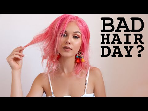 4 'BAD HAIR DAY' NO HEAT HAIRSTYLES - YouTube