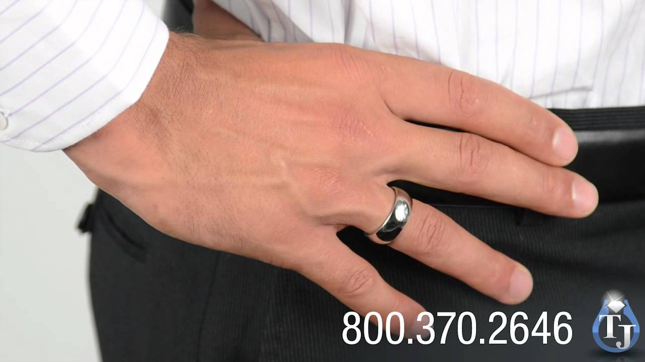 rings titanium multiple band s ring black cubic men zirconia wedding