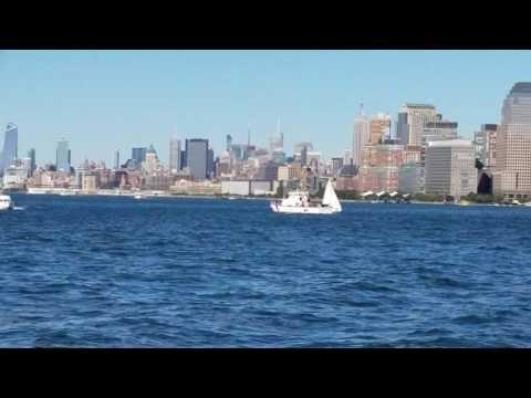 United States Coast Guard Cutter Patrolling The Hudson River In Manhattan, New York