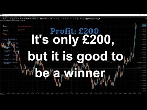 An Extra £200 In My Basket. Live From The Trading Floor From London - Forex Trading Session.
