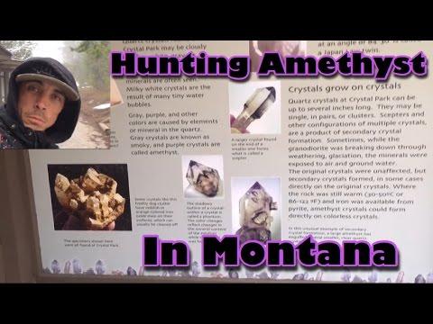Quarts, Amethyst, Smokey, in Crystal Park - Dillion Montana - Mining America Ep7 - 5/13/2016 -
