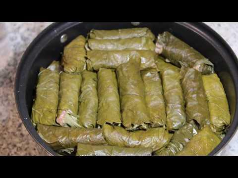 АРМЯНСКАЯ ВКУСНАЯ ТОЛМА  из виноградных листьев/Armenian Delicious Tolma From Grape Leaves