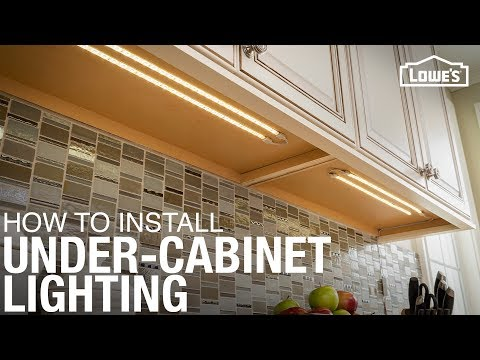 How To Install Under Cabinet Lighting Youtube