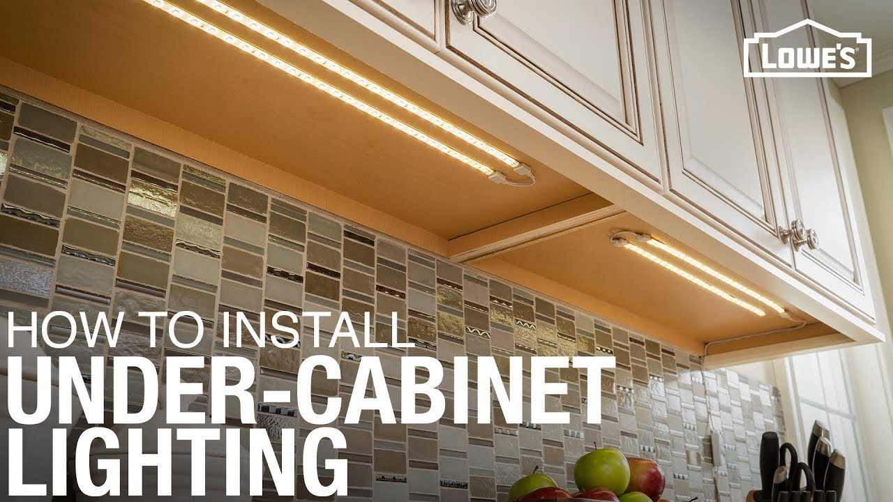 kitchen cabinet lighting ideas tile floors in how to install under youtube
