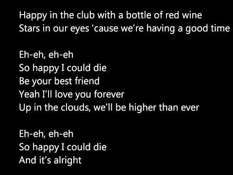 Lady Gaga - So Happy I Could Die (lyrics on screen!) HD!