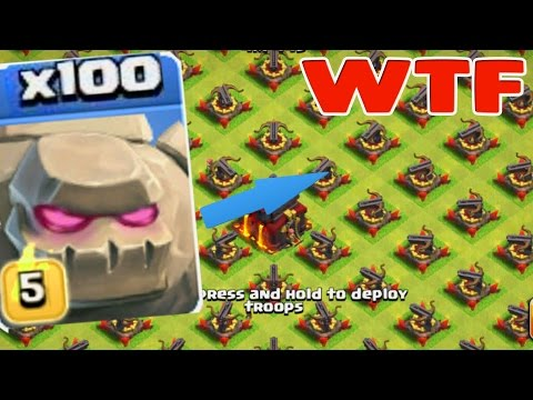 Clash Of Clans 100 Golem VS Full X Bow | Coc New Server