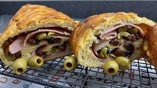 EXQUISITO pan de JAMON receta tradicional -  como hacer el pan de jamón RECETA COMPLETA