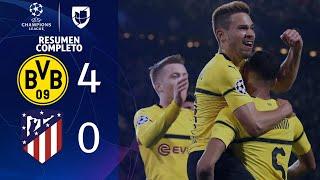 Borussia Dortmund 4-0 Atlético de Madrid - GOLES Y RESUMEN - Grupo A UEFA Champions League