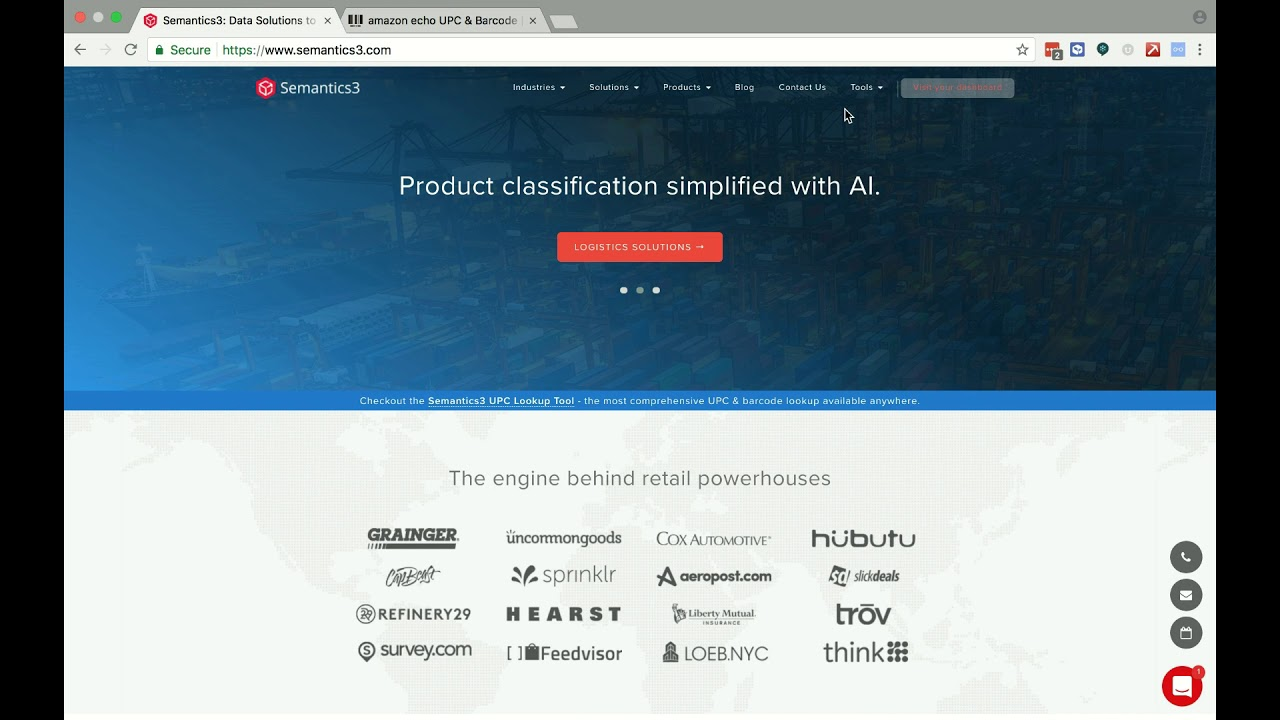 Semantics3 HS Codes Categorizer - AI driven categorization for products