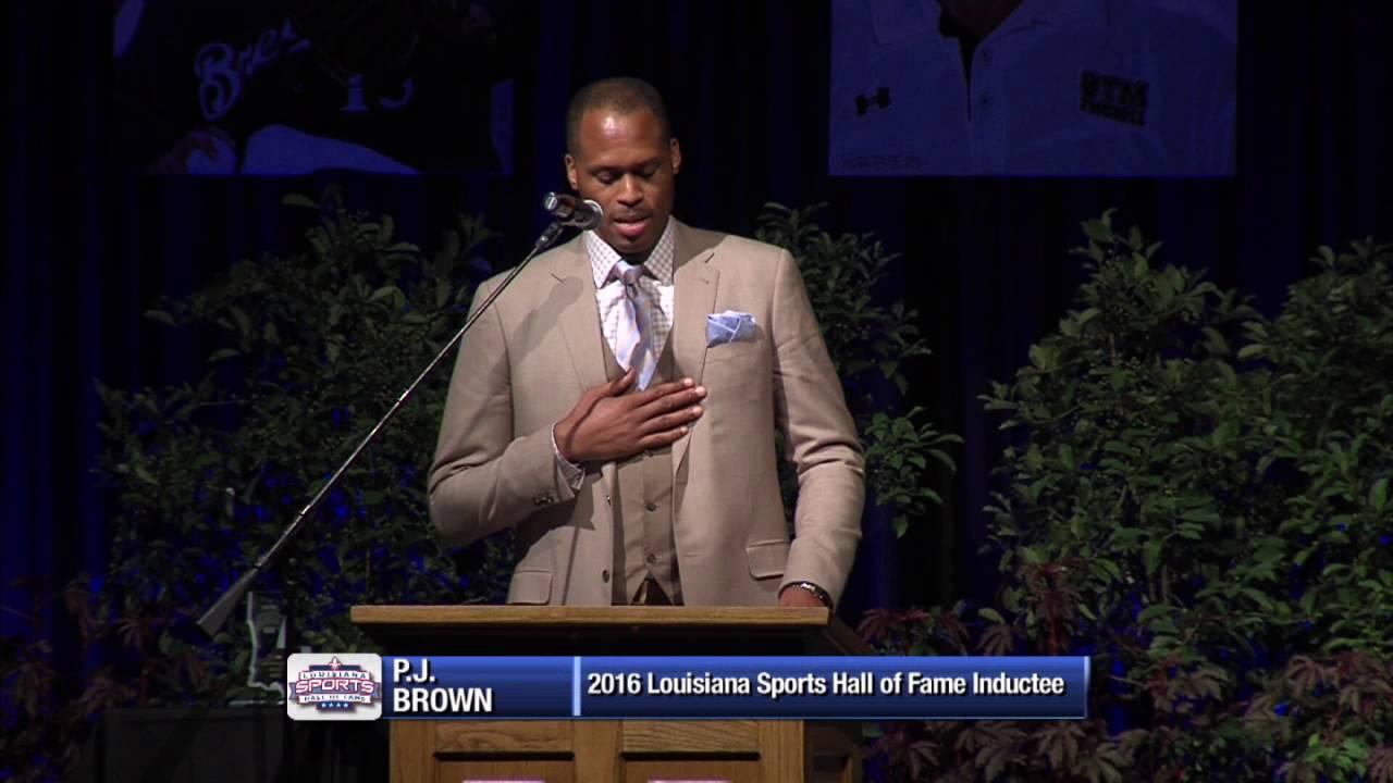 2016 Louisiana Sports Hall of Fame P J Brown