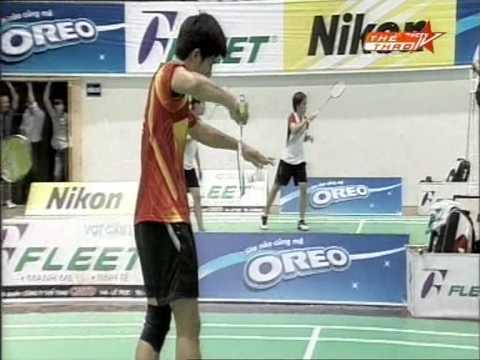 Hanoi Fleet Open 2012 Badminton - MD 18-30 Final round - Phuong, Tri vs Cuong, Dung