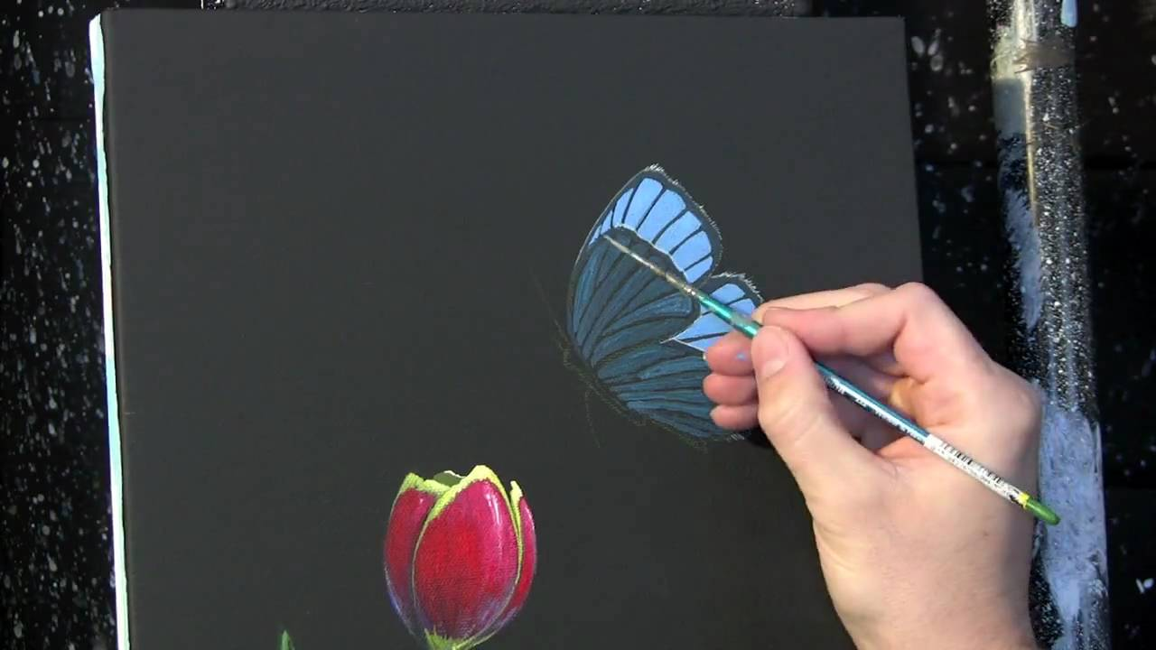 How To Paint Acrylic Tulips Youtube