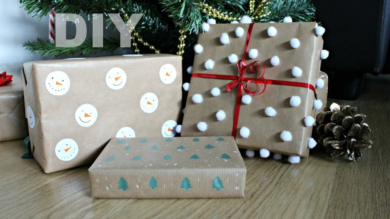 Diy Christmas Wrapping Paper Ideas Jtru Youtube