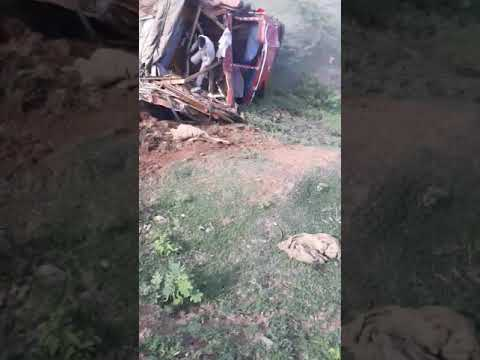 Live accident near ranibennur
