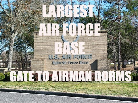[Eglin AFB] Largest Air Force Base Tour (Gate to Dorms)