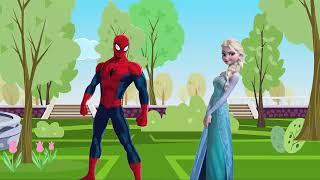 Spiderman Vs Frozen Elsa  | For kids |