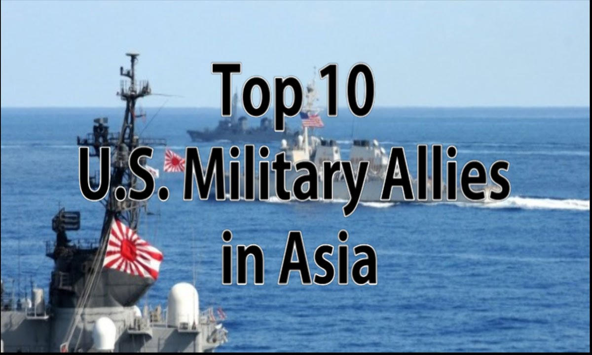 Top US Military Allies In Asia YouTube - Map of us alliances in asia