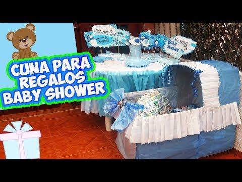 Adornos Para Mesa De Regalos De Baby Shower.Como Hacer Una Cuna Para Regalos Baby Shower Diy Youtube