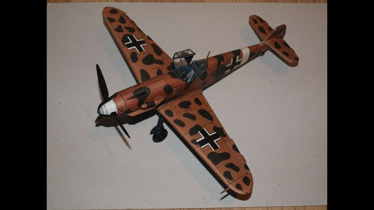 Papercraft Messerschmitt BF 109 G2-trop Paper Model