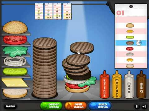 Let s play papa s burgeria 03 big pauly s big heart attack