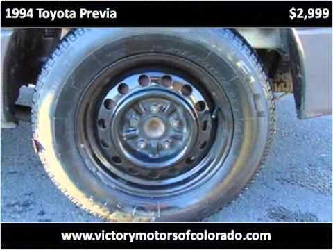 1994 toyota previa used cars longmont co youtube for Victory motors trucks longmont