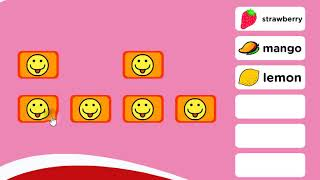 Learn Words, English Education for Kids, Fruits, Memory Game