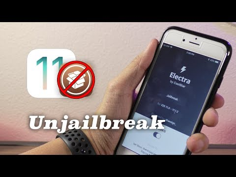 How to Unjailbreak Electra iOS 11.1.2-11.3.1 & Remove Cydia!