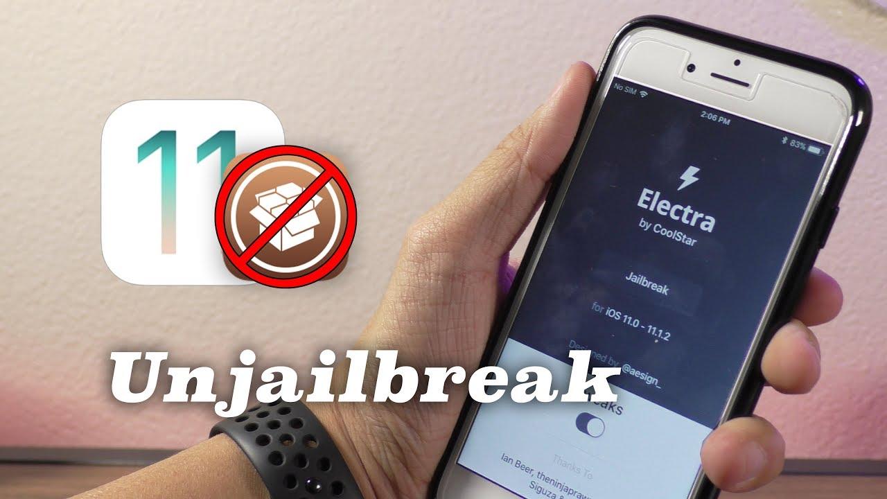 How to Unjailbreak Electra iOS 11 1 2-11 3 1 & Remove Cydia!